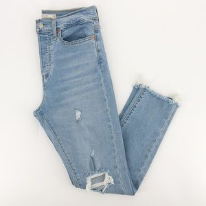 Levi's Light Wash Wedgie Skinny Distressed Jeans